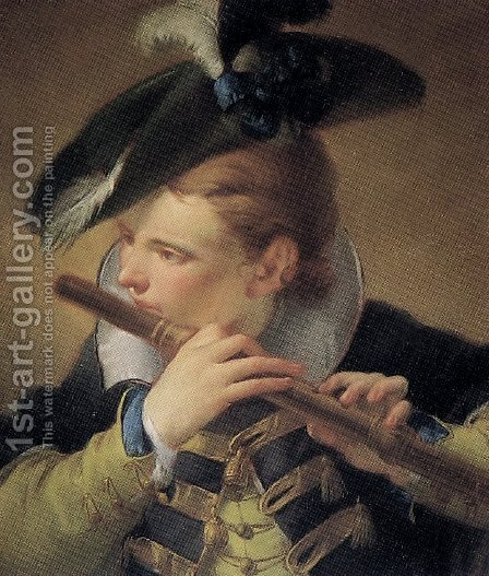 The Piper by Giovanni Domenico Tiepolo - Reproduction Oil Painting