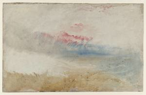 Reproduction oil paintings - Turner - Red Sky over a Beach