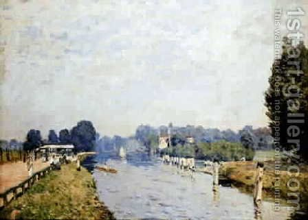 Banks of rivers (the Thames Hampton Court, first week of October) by Alfred Sisley - Reproduction Oil Painting