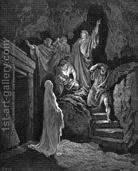 Resurrection Of Lazarus by Gustave Dore - Reproduction Oil Painting