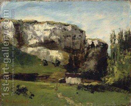 Landscape of Franche Comte by Gustave Courbet - Reproduction Oil Painting