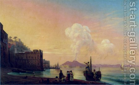 Bay of Naples by Ivan Konstantinovich Aivazovsky - Reproduction Oil Painting