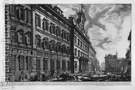 View of the Quirinal Palace on the building for the Offices of 'Short and the Holy See by Giovanni Battista Piranesi - Reproduction Oil Painting