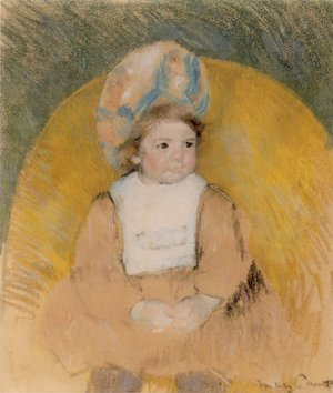 Reproduction oil paintings - Mary Cassatt - Young Girl Seated in a Yellow Armchair