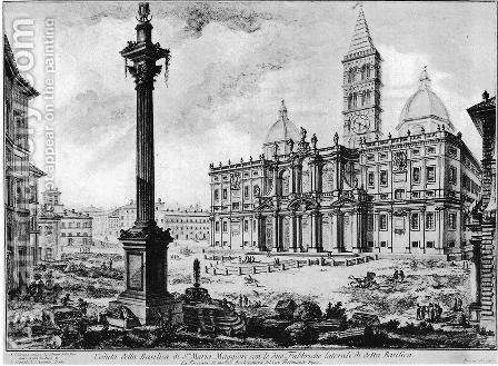 Vedute di Roma 61 by Giovanni Battista Piranesi - Reproduction Oil Painting