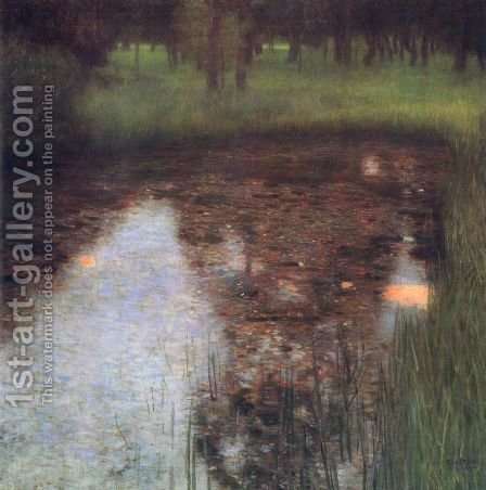 The Swamp by Gustav Klimt - Reproduction Oil Painting