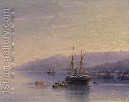 The Bay of Yalta by Ivan Konstantinovich Aivazovsky - Reproduction Oil Painting