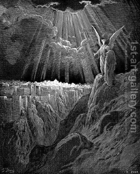 The New Jerusalem by Gustave Dore - Reproduction Oil Painting