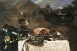 Famous paintings of Desserts: Still-Life with Olives 1634