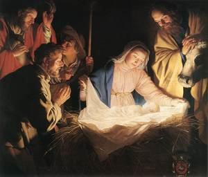 Famous paintings of The Holy Family: Adoration of the Shepherds 1622