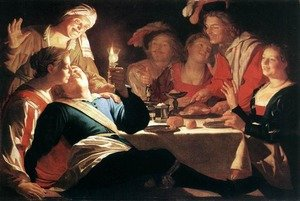 Reproduction oil paintings - Gerrit Van Honthorst - The Prodigal Son 1622