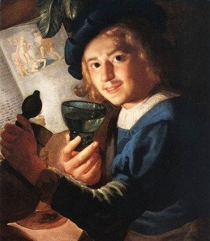 Reproduction oil paintings - Gerrit Van Honthorst - Young Drinker