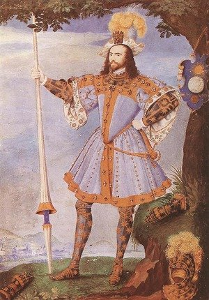 Famous paintings of Men: Portrait of George Clifford, Earl of Cumberland c. 1590