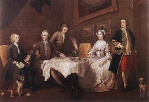Famous paintings of Dogs: The Strode Family 1738