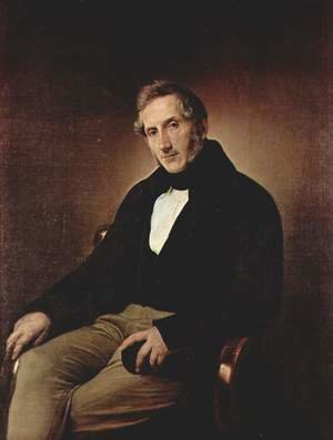 Francesco Paolo Hayez reproductions - Portrait of Alessandro Manzoni 1841