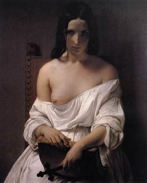 Francesco Paolo Hayez reproductions - Meditation on the History of Italy 1850