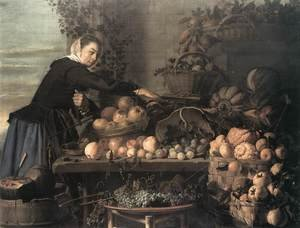 Claes Van Heussen reproductions - Fruit and Vegetable Seller 1630