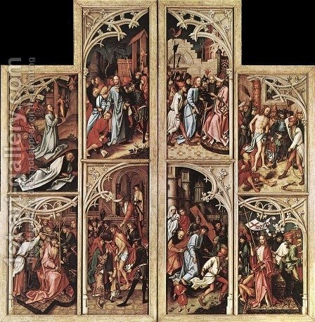 Wings of the Kaisheim Altarpiece 1502 by Hans, The Elder Holbein - Reproduction Oil Painting