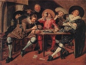 Famous paintings of Taverns: Merry Party in a Tavern 1628