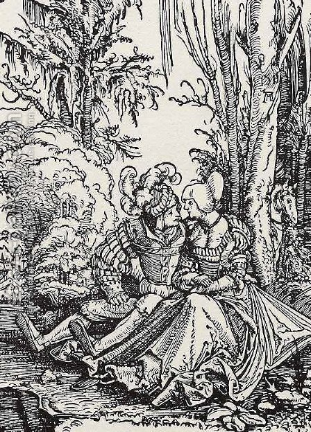 Lovers by Albrecht Altdorfer - Reproduction Oil Painting