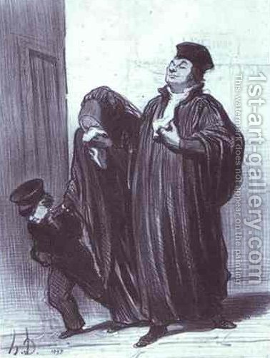 It's true you have lost your case... but you should have gotten a lot of pleasure hearing me plead [your case by Honoré Daumier - Reproduction Oil Painting