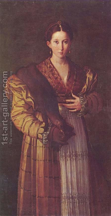 Portrait of a young lady by Girolamo Francesco Maria Mazzola (Parmigianino) - Reproduction Oil Painting