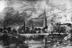Reproduction oil paintings - John Constable - Salisbury cathedral