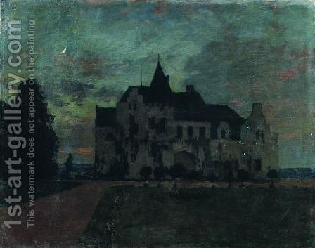 Twilight. A castle. by Isaak Ilyich Levitan - Reproduction Oil Painting