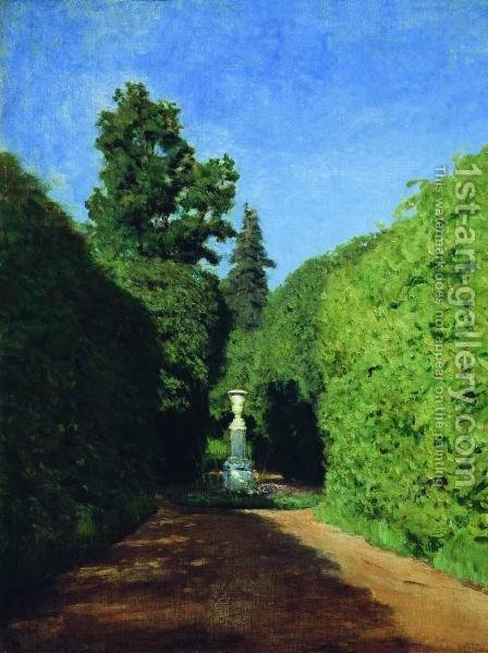 Parkway. Ostankino. by Isaak Ilyich Levitan - Reproduction Oil Painting