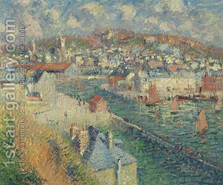Port of Fecamp by Gustave Loiseau - Reproduction Oil Painting