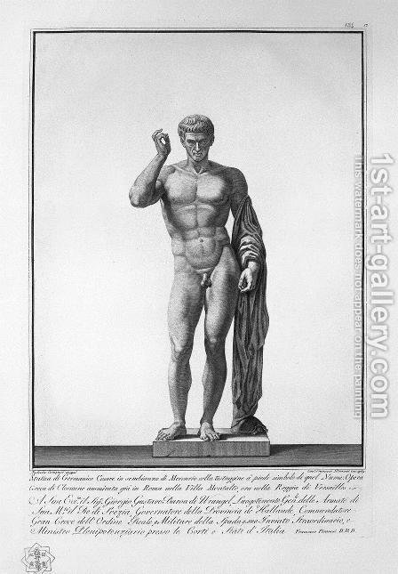 Germanicus in the guise of Mercury by Giovanni Battista Piranesi - Reproduction Oil Painting