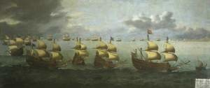 Famous paintings of Ships & Boats: The Return of Prince Charles from Spain, 5 October 1623