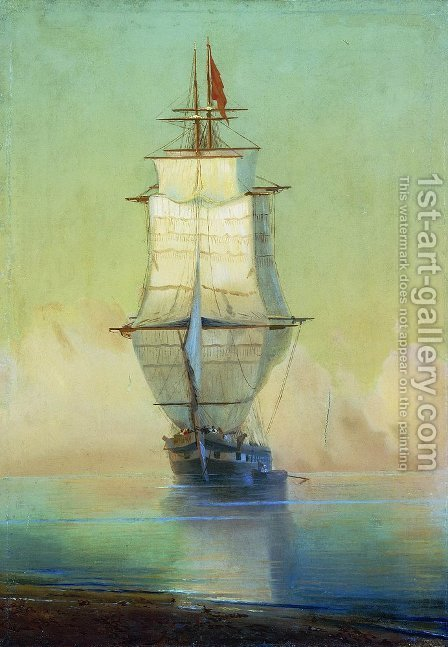 Ship by Ivan Konstantinovich Aivazovsky - Reproduction Oil Painting