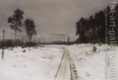 Gray day by Isaak Ilyich Levitan - Reproduction Oil Painting