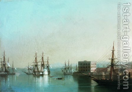 Raid on Sevastopol by Ivan Konstantinovich Aivazovsky - Reproduction Oil Painting