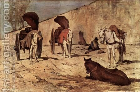 Carri romani by Giovanni Fattori - Reproduction Oil Painting