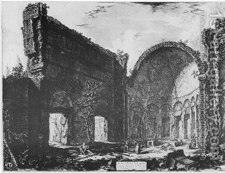 Vedute di Roma 66 by Giovanni Battista Piranesi - Reproduction Oil Painting