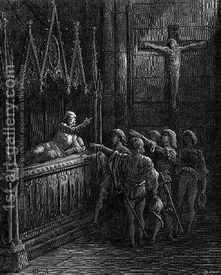 The Order of Chivalry by Gustave Dore - Reproduction Oil Painting