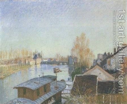 Banks of the Loing near Moret by Alfred Sisley - Reproduction Oil Painting