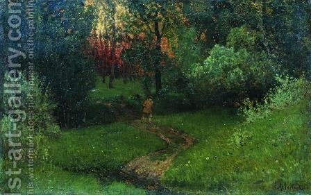 Trail in the forest by Isaak Ilyich Levitan - Reproduction Oil Painting