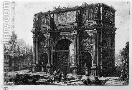 View of the Arch of Constantine by Giovanni Battista Piranesi - Reproduction Oil Painting