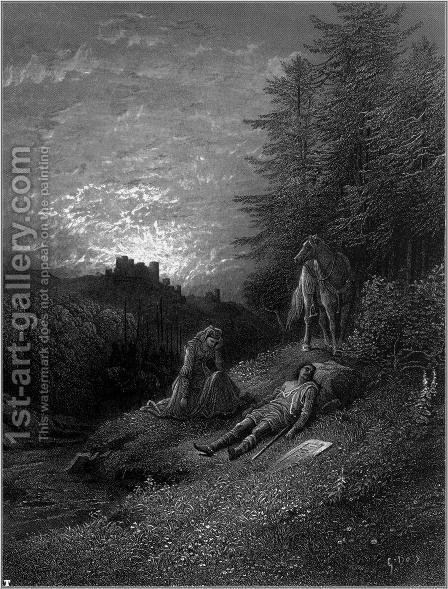 Idylls of the King 10 by Gustave Dore - Reproduction Oil Painting