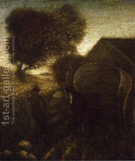 The Farmyard by Albert Pinkham Ryder - Reproduction Oil Painting