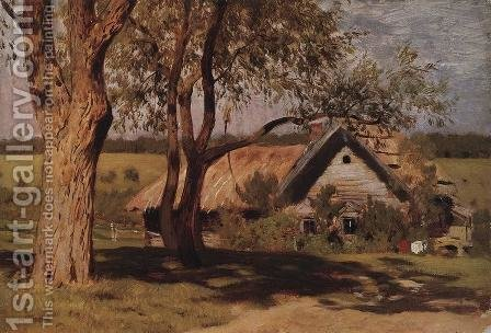 House with broom trees. by Isaak Ilyich Levitan - Reproduction Oil Painting