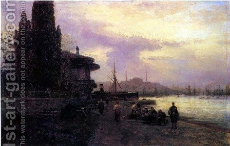 Embankment of Constantinople by Aleksei Petrovich Bogolyubov - Reproduction Oil Painting