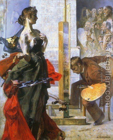 Vision by Jacek Malczewski - Reproduction Oil Painting