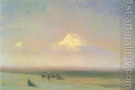 The mountain Ararat by Ivan Konstantinovich Aivazovsky - Reproduction Oil Painting
