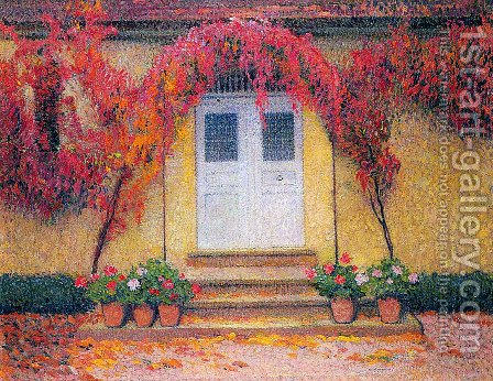 The entrance of the gate in Marquayrol by Henri Martin - Reproduction Oil Painting