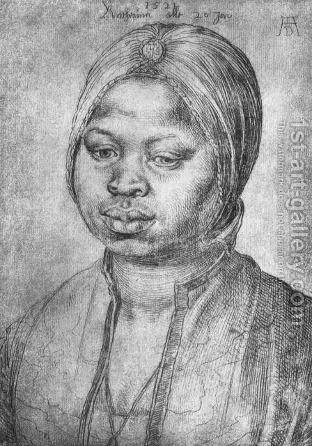 Portrait of African woman Catherine by Albrecht Durer - Reproduction Oil Painting