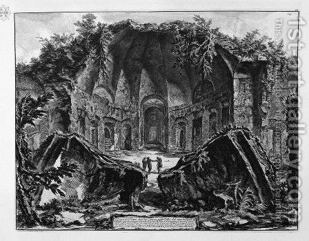 Remains of the Temple of the God Canopus in Hadrian's Villa at Tivoli by Giovanni Battista Piranesi - Reproduction Oil Painting